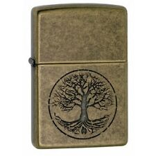 Zippo Tree Of Life Antique Brass Lighter Brand New