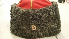 RARE Antique Soviet USSR WWI Russian Army General Red Top Cossack Caucasian Hat
