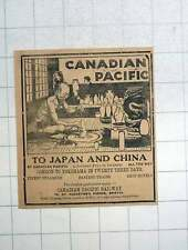 1925 Canadian Pacific To Japan And China London To Yokohama 23 Days