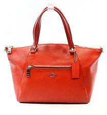 Coach True Red Women's Satchel Leather Prairie Handbag Zip Top Purse $275- #005