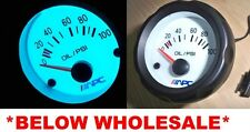 "100psi 2 1/16"" EL White Glow face oil pressure meter gauge include sending unit"