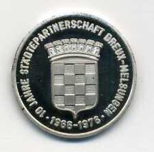 10 Jahre Städtepartnerschaft Dreux - Melsungen 1966 - 1976 Silber M_755