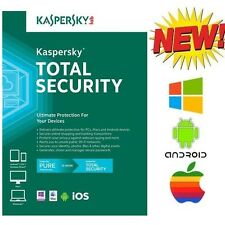 NEW Kaspersky Pure TOTAL SECURITY Multi Device 3 PC For Windows Android iOS Mac