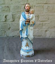 B2016459 - Saint Joseph en biscuit de porcelaine - 30 cm de hauteur