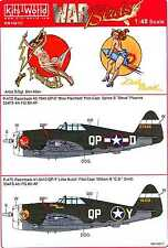 Kits World Decals 1/48 REPUBLIC P-47D THUNDERBOLT Miss Plainfield & Little Butch