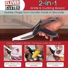 Trendy Clever Cutter 2-in-1 Knife & Cutting Board Scissors As Seen On TV 1pc