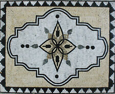 Floor Carpet Decoration With Triangular  Marble Mosaic GEO2101