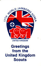 Plastic Greetings card from 17th World Scout Jamboree 1991 Korea + B-P