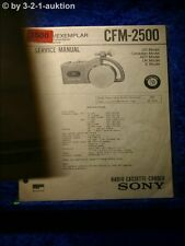Sony Service Manual CFM 2500 Radio Cassette Corder (#3500)