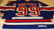 New York Rangers Hockey Retro Vintage Jersey XXL Home Wayne Gretzky CCM New Blue