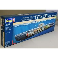 REVELL 05078 GERMAN U-BOOT TYPE XXI WITH INTERIOR 1/144 SCALE SHIP KIT