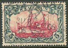1900 German colonies Cameroun 5 Mark Yacht used - DUALA - € 600.00