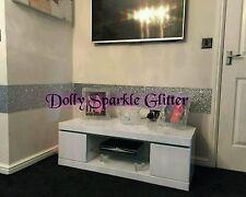 Grade 3 glitter wallpaper fabric  border  sold per m silver