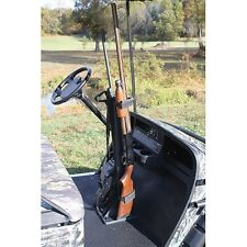 Golf Cart Gun Rack, Universal Fit Holds 2 Guns Securely/EZGO, Club Car, Yamaha