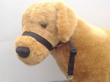 K9 CUSHION Figure of Eight 8 WEB dog halter head-collar, BLACK NO LEAD.