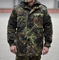 Genuine German Army Issue Flecktarn Zip fronted Combat Jacket Lined Or Unlined