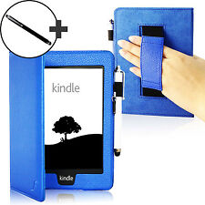 Bracelet Cuir Bleu Smart Case Cover pour Amazon Kindle Paperwhite 2015 + Stylet