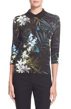 Ted Baker London 'Larvley' Twilight Floral Print Sweater ( Size 2- US 4)