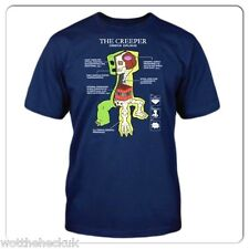 Kids Boys Official Mojang Jinx Minecraft Creeper Short Sleeve TShirt Tee Navy