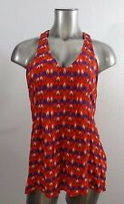 Lucky Brand women's printed sleeveless blouse top S new
