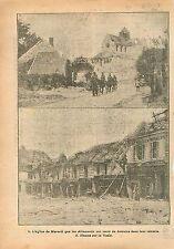 Ruines Église Saint-Hilaire de Mareuil-sur-Ay/Fismes sur Vesle France 1918 WWI