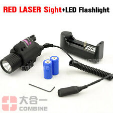 Caza Táctico CREE LED Flashlight & Red Dot Laser Sight Combo Para Pistols