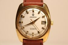 "VINTAGE RARE NICE MEN""S SWISS GOLD PLATED  AUTOMATIC WATCH""CANDINO"" 25 JEWELS."