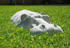 "Large 27"" Hippo, Hippopotamus garden ornament, concrete sculpture ornaments gift"
