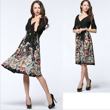 01 New Women lady half Sleeve V Evening party Summer Formal dress Plus Size 20