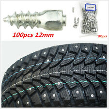 100× 12mm Car SUV ATV Screw Stud Snow Spikes Trim Wheel Tyres Snow Chains Studs