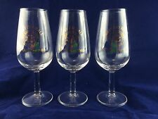 3 USN United States Navy Day Ball 1992 Rota Spain Wine Glasses