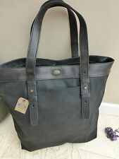 BNWT FOSSIL Estate Black Canvas Tote Work Bag RRP £119