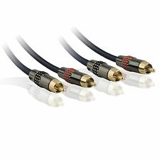 Antsig PREMIUM RCA AUDIO LEAD 1.8m Dual Shield,Gold Plated Connection *AUS Brand