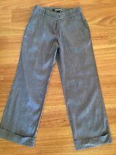 Womans Pants/Trousers size 8 Myer Basque City Petites grey linen blend pd $99.95