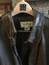 Vintage  L.L.Bean  Flight Bomber Pilot Leather Jacket Size 44 Made In USA