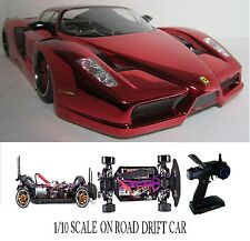 1/10 Scale Ferrari Fxx RTR Custom RC Drift Cars 4WD 2.4Ghz & Charger