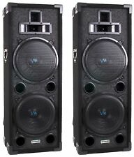 "New VM Audio VAS4210P 2200 Watt 4-Way Dual 10"" DJ Loud Speakers System (Pai"