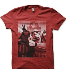 StormTrooper Star Wars Darth Vader JEDI Selfie SELFY Paris YODA red t-shirt 9773