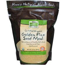 Now Foods, Certified Organic Golden Flax Seed Meal, 22 oz (624 g)