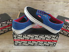 VANS ERA SUEDE CANVAS NAUTICAL BLUE BLACK MENS SIZE 9