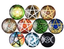 """Pkg of 10 STAR 1/2"""" (12mm) Stick-on Cabochon Round Dome Craft Pieces (2657)"""