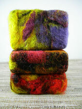 ~Natural, Artisan Felted  Full Size Bar Soap,  Gift, Exfoliate, Reduce Cellulite