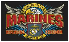 MARINES FIRST MISSION  3 X 5 military DELUXE FLAG #667 new polyester 3x5 banner