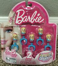 Squinkies 5 Rings Barbie Series 2 Party Pack Party Favors NIP