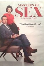 Masters of Sex: Season One (DVD, 2014, 4-Disc Set) New Sealed.