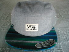 Vans OTW Off The Wall Baseball Cap Gray Blue Green Stripe Adjustable New