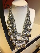 NWOT Chic Faux Pyrite Statement Necklace Anthropologie