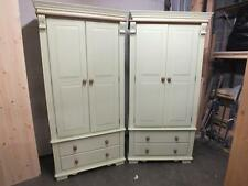 REGENCY PAINTED 2 DOOR WARDROBE + DRAWERS /SOLID PINE - SOLID OAK