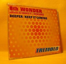 MAXI Single CD 8TH WONDER FT DJ MARCO V. & BENJAMIN Deeper 6TR 1997 house garage