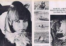 Coupure de presse Clipping 1966 Marcel Amont  (2 pages)